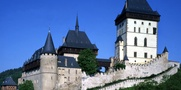 Visit the monumental Gothic castle of Karlštejn in a small group.